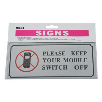 Mobile Switch Off Sign 12/Pk