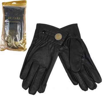 LEATHER LOOK GLOVE