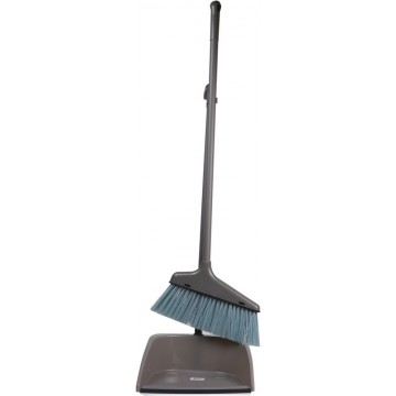 LONG HANDLE DUST PAN WITH BRUSH