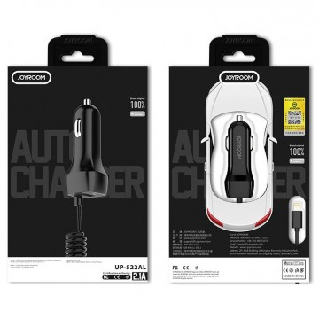 JAYROOM UP-522AL 2.1A Car charger micro cable  suit white