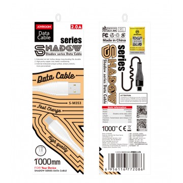 JAYROOM S-M353 SHADOW Series Type-c Cable(Upgrade)-Black/White