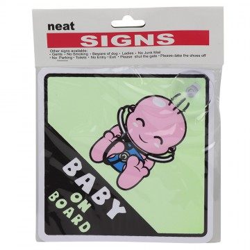 REFLECTIVE BABY ON BOARD SIGN