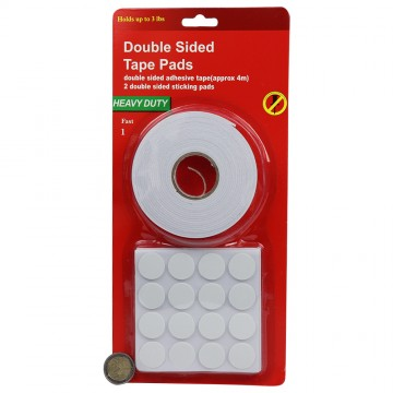 DOUBLE SIDED TAPE AND STICKING PADS SET