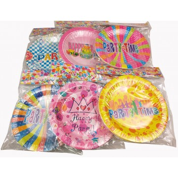 """10PCS 9"""" PARTY PLATE ASSORTED"""