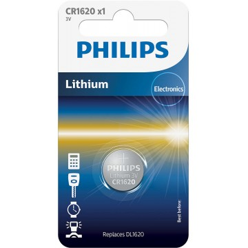 PHILIPS LITHIUM COIN CELL CR1620