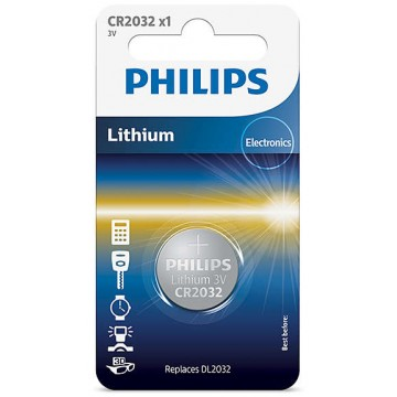 PHILIPS LITHIUM COIN CELL CR2032