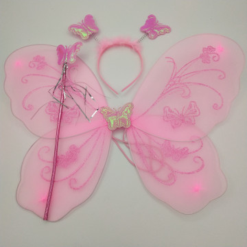 PC PINK FAIRY WING SET