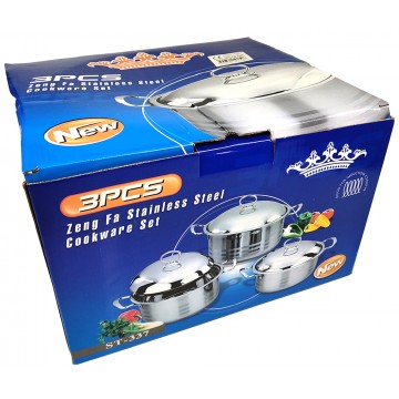3PC ST/STEEL COOKING POT