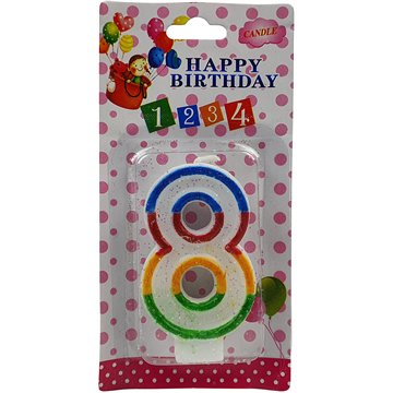 Number Birthday Candle-8 (12)