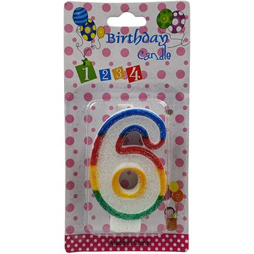 Number Birthday Candle-6 (12)