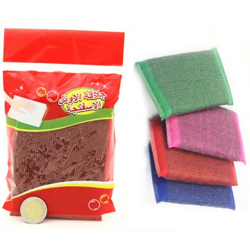 STEEL AND PLASTIC SCOURING PAD