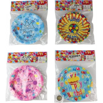 """10PCS 7"""" ASSORTED PARTY PLATE"""