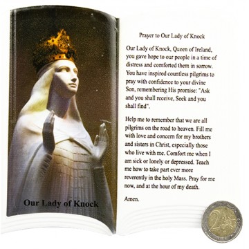 OUR LADY OF KNOCK PLAQUE W/ PRAYER